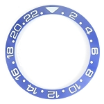 Bezel Insert To Fit Rolex GMT - 38.0mm Blue / White Ceramic