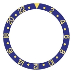 Bezel Insert To Fit Rolex GMT - 38.0mm Blue / Gold Ceramic