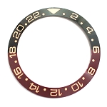 Bezel Insert To Fit Rolex GMT II - 38.0mm Black / Brown Ceramic