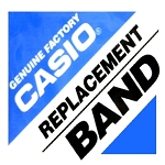 23mm Casio DW8800AJ-7 White Double Velcro Watch Band
