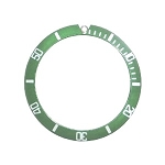 Bezel Insert To Fit Rolex Submariner - 38.0mm Green / White Ceramic
