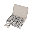 20 Glass Top Aluminum Tins Storage Box