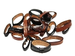 Black & Brown Leather Strap Keeper Assortment 20pcs