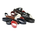 Mixed Colors Leather Strap Keeper Assortment 20pcs