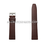 Brown Movado Style Smooth & Flat Genuine Leather Band (12mm-24mm)