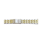 Metal Watch Band Two Tone Yellow / White Color (16mm-22mm)