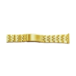 Metal Watch Band Gold Color (16mm-22mm)