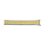 Expansion Metal Watch Band Two Tone Yellow / White Color (20mm)