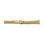 Ladies Metal Watch Band Gold Color (10mm-14mm)
