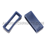 Navy Blue PVC Strap Keeper Assortment 16pcs (16mm-30mm)