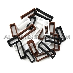 Black, Brown and White Silicone Strap Keeper Assortment 24pcs (16mm-30mm)