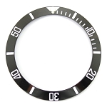 Bezel Insert To Fit Rolex Submariner - 38.0mm Black / White Ceramic