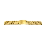 Solid Stainless Steel Band Gold with Straight End (16mm-24mm)
