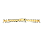 20mm Solid Stainless Steel Band Two-Tone Yellow / Silver Oyster Link Style with Curved End