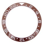 Bezel Insert To Fit Rolex GMT - 38.0mm Brown / White Ceramic