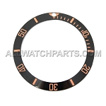 Bezel Insert To Fit Rolex Submariner - 38.0mm Black / Rose Gold Ceramic
