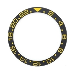 Bezel Insert To Fit Rolex GMT - 38.0mm Black / Gold Ceramic