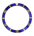 Bezel Insert To Fit Rolex Submariner - 38.0mm Blue / Gold Ceramic