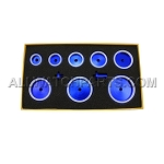 Blue Aluminum Circular Case Press Dies 8pc Set