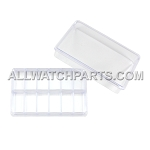 Transparent Plastic Box Organizer with 12 Small Compartments and Lid