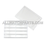Transparent Plastic Box Organizer with 10 Small Compartments and Lid