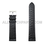 Flat Black Genuine Alligator Leather Band (18mm - 20mm)