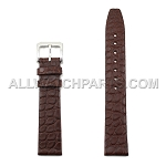 Flat Brown Genuine Alligator Leather Band - Flat End  (18mm)