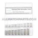 1.2mm Double Flange Thin Spring Bar Assortment 340pcs (6mm-22mm)