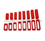Red Silicone Strap Keeper Assortment 16pcs (16mm-30mm)