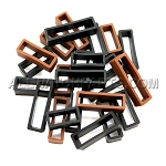 Black and Brown Silicone Strap Keeper Assortment 24pcs (16mm-30mm)
