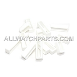 White PVC Strap Keeper Assortment 16pcs (16mm-30mm)