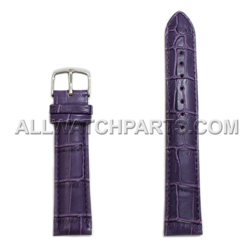 Purple Alligator Grain Leather Band (18mm-24mm)