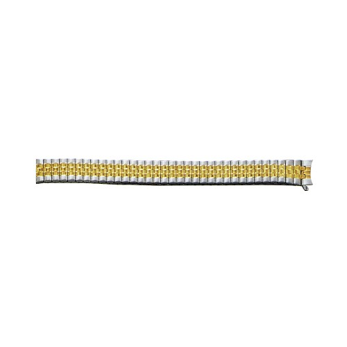 Expansion Metal Watch Band Two Tone Yellow / White Color (12mm)
