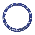 Bezel Insert To Fit Rolex Yacht-Master II - 42.0mm Blue / White Ceramic