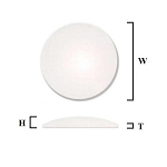 3.0mm Large Single Dome Crystal (35.5mm-50.0mm / 0.5mm Increment)