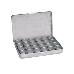 24 Glass Top Aluminum Tins Storage Box