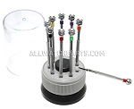 9-Piece Screwdriver Set in Rotating Stand (-)