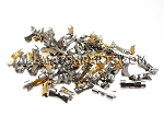End Piece Assortment - Gold, 2-Tone & Stainless Steel 100pcs