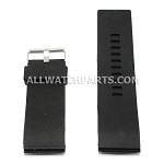 Black Silicone Thick End Rubber Watch Strap (22mm-28mm)
