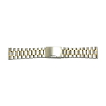 Solid Stainless Steel Band Two-Tone Yellow / White With Straight End (16mm-24mm)