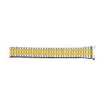 Expansion Metal Watch Band Two Tone Yellow / White Color (18mm)