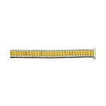 Expansion Metal Watch Band Two Tone Yellow / White Color (11mm-14mm)