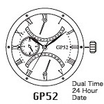 MIYOTA  GP52 Watch Movement