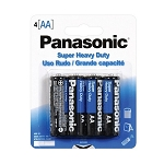 Panasonic AA 1.5V Super Heavy Duty Alkaline Battery- 4/pk