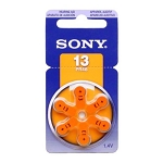 Sony PR48 (#13) Zinc Air Hearing Aid Battery 1.4V
