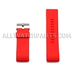 White Silicone Thick End Rubber Watch Strap 28mm