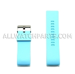 Aqua Silicone Thick End Rubber Watch Strap 28mm