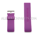 Purple Silicone Thick End Rubber Watch Strap 28mm