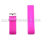 Fuchsia Silicone Thick End Rubber Watch Strap 28mm