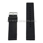 Flat Black Silicone Rubber Watch Strap (12mm-26mm)